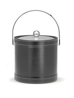 Stitched Black Ice Bucket by Kraftware