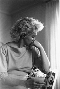 March 1955, Manhattan, New York, New York, USA --- Marilyn Monroe in Thoughtful Profile --- Image by Michael Ochs Archives/Corbis