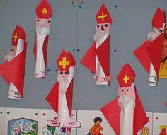 #knutselen met kinderen tijdens #sinterklaas #DIY Sint-Knutsel idee: sinter-keukenrol