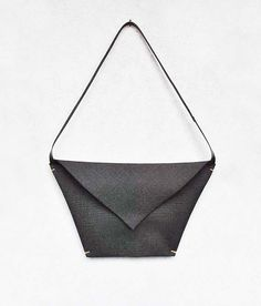 Oversized envelope bag, minimalist canvas and leather clutch by @inconnulab