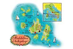 Map of Maddalena Archipelago