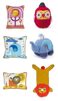 Jonathan Adler Junior - well, its about time! See more at SmallforBig.com #kids #decor #nursery #pillows