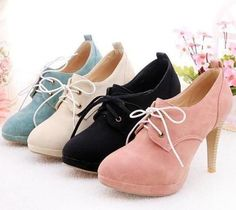 blue, white, black and pink shoe