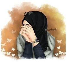 Hijab Anime, Anime Muslim, Beautiful Girl Drawing, Cute Girl Drawing, Hijabi Girl, Girl Hijab, Orange Anime, Portrait Vector, Hijab Drawing