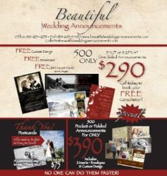 Beautiful Wedding Announcements Uniquely Customized Invitations And Thank You Cards