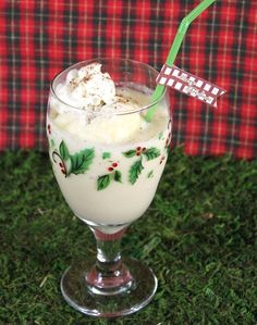 Easy Eggnog Punch...the whip topping adds a creaminess while the ice cream keeps it nice and chilled.