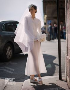 11 Whimsical Wedding Looks For The Non-Traditional Bride Wedding Looks, Bridal Looks, Bridal Style, Vogue Fashion, Look Fashion, Quirky Fashion, Romantic Fashion, Whimsical Wedding, Glamorous Wedding