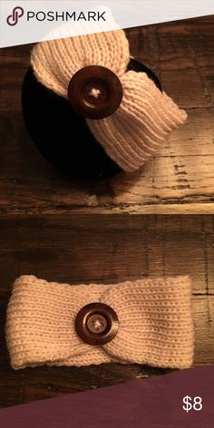 Infant/Toddler Headband Adorable tan headband with button. Accessories Hair Accessories