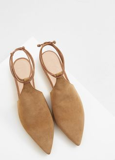 Premium - sapato sem talão pele | MANGO