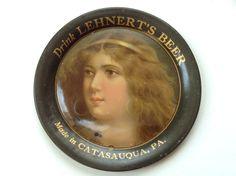 Lehnert's Beer Tip Tray Catasauqua PA Pre-Prohibition