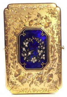 Gold And Enamel Watch Aide De Memoire