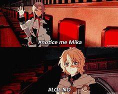 owari no seraph, rejection comic ft mika and vampire guy
