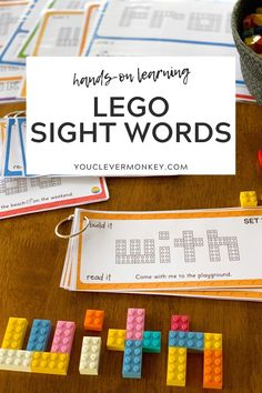 LEARNING WITH LEGO - SIGHT WORDS