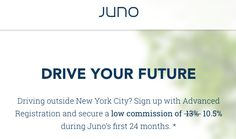 Juno Car Service Expanding - Low Driver Commission Guarantee + Off Rides NYC - The Reward Boss
