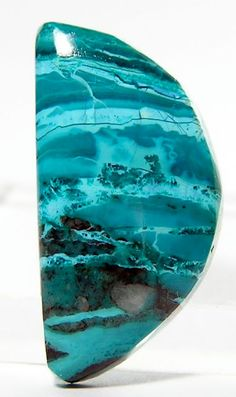 Blue Chrysocolla Malachite Cabochon 145 carats by FenderMinerals, $14.00