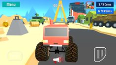 Monster Truck Stunt Speed Race – miniatureskærmbillede