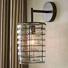 Linear Blown Glass Sconce #WestElm