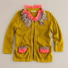 The BEST little girl sweater. And on sale too. But not in my girl's size.