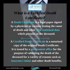 What is a Certified Death Certificate? | Walker Funeral Home - Cincinnati #FuneralFAQs