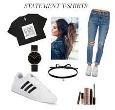 """🙊"" by abby-gains on Polyvore featuring Levi's, adidas, Laura Mercier, Joomi Lim and CLUSE"