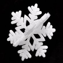 20Pcs White Snowflake Ornaments Christmas Holiday Festival Party Home Decor ,dry christmas decoration for home,adornos navidad(China (Mainland))