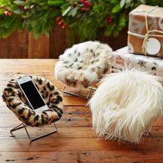 Faux Fur Mini Hang-A-Round Phone Chair | PBteen