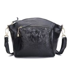 61c6a5a5dcd9 DUSUN New Women Genuine Leather Crossbody Bag Vintage Small Messenger Bag  Crocodile Zipper High Quality Women Bag bolsa feminina