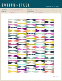Kite Ties quilt pattern by Cotton & Steel - Bloomerie Fabrics - Free Patterns