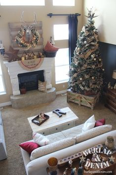 Burlap and Denim Christmas Open House