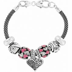 Brighton is known for its exquisitely crafted women's handbags, jewelry, and charms for bracelets, along with many other stylish accessories. Brighton Charms, Brighton Jewelry, I Love Jewelry, Charm Jewelry, Charm Braclets, Bracelets With Meaning, Heart Bracelet, Luxury Jewelry, Jewelery