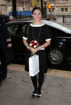 Crown Princess Victoria attended  the Brain Day seminar in Folket Hus in Stockholm.