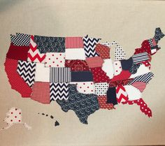 US Map Quilt Tutorial Map quilt 50 states and Road trips