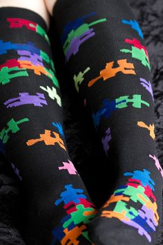 If other puzzle socks are too easy, maybe these knee-highs will be a big enough puzzle for you!