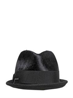 fc5ec54ecac DSquared Clement Ponyskin Fedora Hat on shopstyle.com