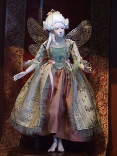 Amazing handmade marionette fairy godmother. Seriously impressive craftsmanship.