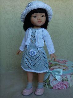 Симпатичный комплект из хлопка для Паола Рейна и других,подобных. / Одежда для кукол / Шопик. Продать купить куклу / Бэйбики. Куклы фото. Одежда для кукол