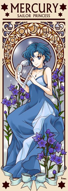 Princess Sailor Mercury by Tsuki-kioku. Sailor Moon