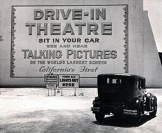 This former drive-in originally opened as the Pico Drive-In (the first drive-in in California) at Pico Boulevard & Westwood Boulevard  1934, but moved from that location to Olympic Boulevard in the late-1940's.