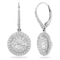 2.80ct 14k White Gold Diamond Earrings - Allurez.com
