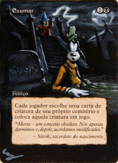 MTG Altered Art Disney Mickey Mouse