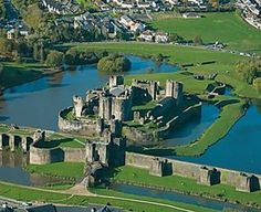 Caerphilly aerial Caerphilly Castle is a medieval fortification in Caerphilly in South Wales. The castle was constructed by Gilbert de Clare in the century as part of his campaign to conquer Glamorgan, Welsh Castles, Castles In Wales, Wales Castle, Chateau Medieval, Medieval Castle, Wales Uk, South Wales, Wales Cardiff, Chateau Moyen Age
