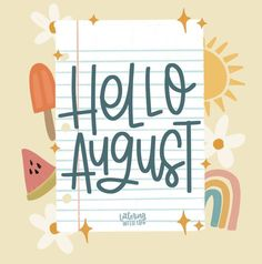 August Calendar, Hello August, Digital Art, Lettering, Photo And Video, Happy, Free, Instagram, Videos
