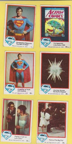 Superman The Movie Trading Cards
