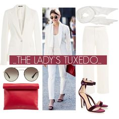 How To Wear The Lady's Tux.... Outfit Idea 2017 - Fashion Trends Ready To Wear For Plus Size, Curvy Women Over 20, 30, 40, 50