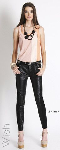 Wish - Hunting Leather Pant $199.95 Black Leather Jeans, Leather Pants, Hunting Pants, Collection, Fashion, Leather Jogger Pants, Moda, Fashion Styles, Fasion