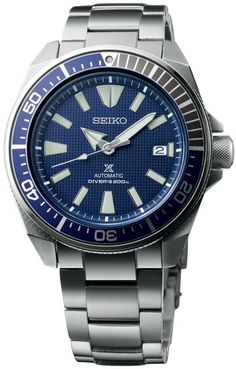 Seiko Watch Prospex Samurai Pre-Order #add-content #basel-17 #bezel-unidirectional #bracelet-strap-steel #brand-seiko #case-material-steel #case-width-43-8mm #classic #date-yes #delivery-timescale-call-us #dial-colour-blue #gender-mens #movement-automatic #new-product-yes #official-stockist-for-seiko-watches #packaging-seiko-watch-packaging #pre-order #pre-order-date-30-09-2017 #preorder-september #style-dress #subcat-seiko-prospex #supplier-model-no-srpb49k1…
