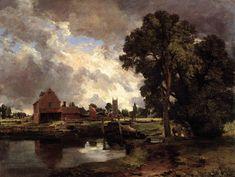pinturamadrid: john constable - esclusa y molino en Dedham