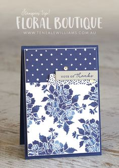By Teneale Williams | Stampin' Up! Australia | Floral Boutique Designer Series Paper