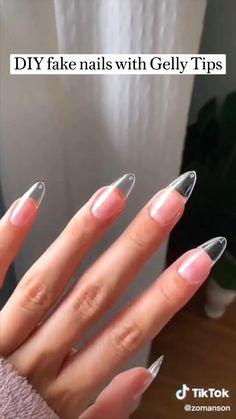 Gel Nail Extensions, Sky Nails, Nail Forms, Nail Drill, Dipped Nails, Almond Nails, Simple Nails, Gel Nail Polish, Diy Fashion