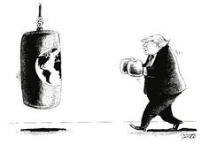 """OÖN-Karikatur vom 10. November 2016: """"The President of the United States"""" Mehr Karikaturen auf: http://www.nachrichten.at/nachrichten/karikatur/ (Bild: Mayerhofer)"""